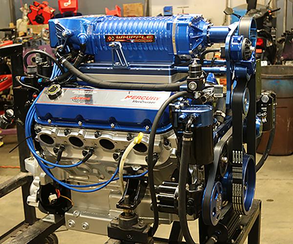 Big Block Chevy Blower Pistons: 540 Big Block Chevy Marine Engine