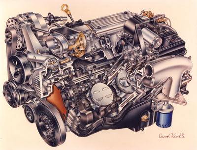 cooler heads prevail pouring over gm s lt1 engine and reverse rh enginebuildermag com Chevy 5.7 Engine Diagram 1995 Chevrolet Engine Diagram