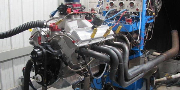 438 cid Small Block Chevy Dirt Super-Late Model Engine - Engine