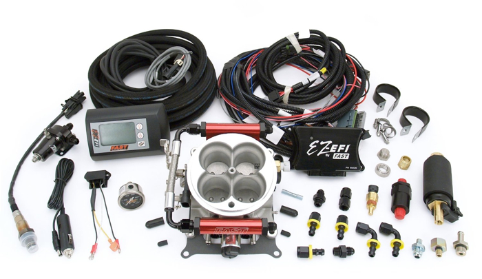 this ez-efi� self-tuning fuel injection system maste kit from fast includes