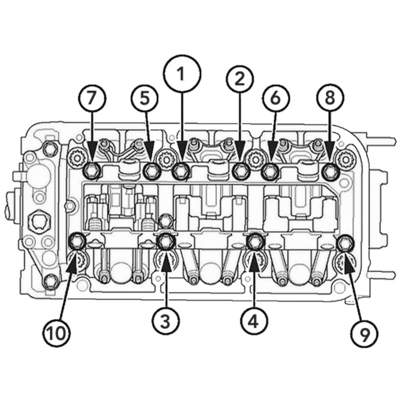Honda Head Torque on Cylinder Head Valve And Lifter Diagram