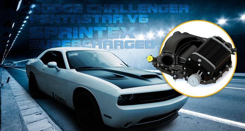 Sprintex USA Supercharger for Dodge Challenger V6 - Engine